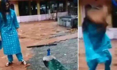 Ex-Bigg Boss contestant Digangana Suryavanshi attacked by peacock, shrieks as she tries to get away.